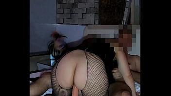 Brincadeira sexual mulher de meia arrastão